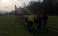 MEHMET YAVUZ - Devrilen Traktörün Altında Kalan Şahıs Ambulans Helikopterle Hastaneye Kaldırıldı