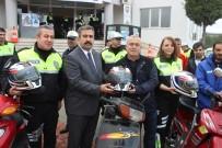 ALİ COŞKUN - Motosiklet Sürücülerine Hediye Kask