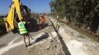 ŞEBEKE HATTI - Günyurdu Ve Özlüce'ye Berdan'dan Su Verme Çalışmaları Devam Ediyor