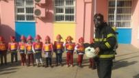 SABİHA GÖKÇEN - Kahta Sabiha Gökçen Anaokulunda Yangın Tatbikatı