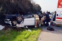 PETKIM - Takla Atan Otomobilden Yaralı Kurtuldu