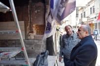 Başkan Arslan, Yangında Zarar Gören İş Yerini Ziyaret Etti