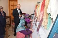 TEKSIF - Başkan Kayda Kursiyerlerin Çalışmalarını İnceledi