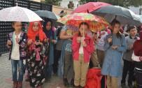 İSTIKLAL MARŞı - Ortaokul Öğrencileri Yağmur Duası Yaptı
