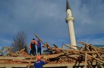 Trabzon'da cami lojmanı inşaatında göçük