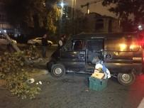 VATAN CADDESİ - Vatan Caddesi'nde Alkollü Sürücü Kaza Yaptı