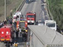 AKBAYıR - Gebze'de Zincirleme Trafik Kazası Açıklaması 1 Ölü, 4 Yaralı