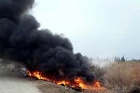 Havran'da Lastik Yangını İlçeyi Duman Altında Bıraktı