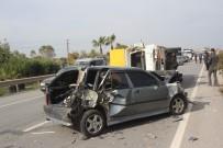 KAMYON ŞOFÖRÜ - Manavgat'ta Trafik Kazası Açıklaması 1 Yaralı