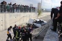 ERCIYES ÜNIVERSITESI - Kayseri'de Otomobil Kanala Uçtu Açıklaması 1 Yaralı