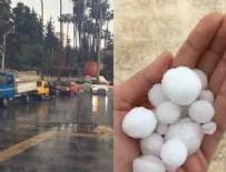 DOLU YAĞIŞI - Mersin'de şiddetli yağış ve dolu