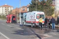 BEYKÖY - İtfaiye İle Hafif Ticari Araç Çarpıştı Açıklaması 5 Yaralı