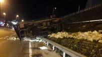 KARNABAHAR - Kamyonet Bariyerleri Yıkarak E-5'E Uçtu Açıklaması 1 Yaralı