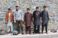 SINIR DIŞI - Başkale'de 5 Kaçak Şahıs Yakalandı