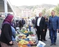 PAZAR ALIŞVERİŞİ - Başkan Duruay Pazar Esnafını Ziyaret Etti
