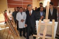 JANDARMA KOMUTANI - Cizre'de Toplum Ruh Sağlığı Merkezinde Hastalar Sergi Açtı