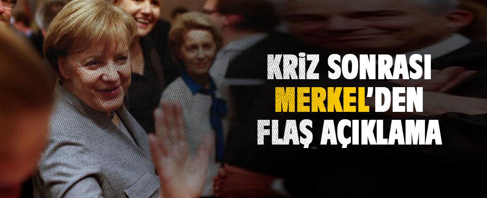 Merkel: Azınlık hükümeti kurulacağına yeniden seçime gitmeyi tercih ederim