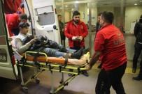 ERTUĞRUL GAZI - Motosikletten Düşen Genç Yaralandı