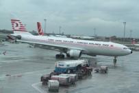 ŞİDDETLİ RÜZGAR - Şiddetli Rüzgardan Uçaklar Beşik Gibi Sallandı