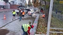 SICAK ASFALT - Eski Hastane Caddesinde Kaldırım Çalışması Başladı