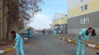 SONBAHAR - Hastane Bahçesinde Sonbahar Temizliği