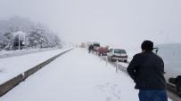 Karabük-Bartın Karayolu Kar İle Kaplandı