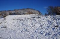 DUMANLı  - Lapseki'de Kar Kalınlığı Yer Yer 15 Santime Kadar Ulaştı