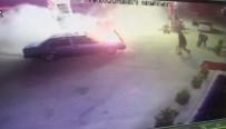 KAÇAK - Otomobil Akaryakıt İstasyonunda Yanmaya Başladı
