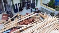 ŞİDDETLİ RÜZGAR - Sinop'ta Fırtına Çatı Uçurdu