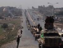 PROPAGANDA - YPG'li teröristler, ABD'nin verdiği zırhlı araçlarla Türkiye sınırında şov yaptı