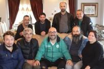 HASTALıK - Başkan Bozbağ'a Basın Mensuplarından 'Geçmiş Olsun' Ziyareti