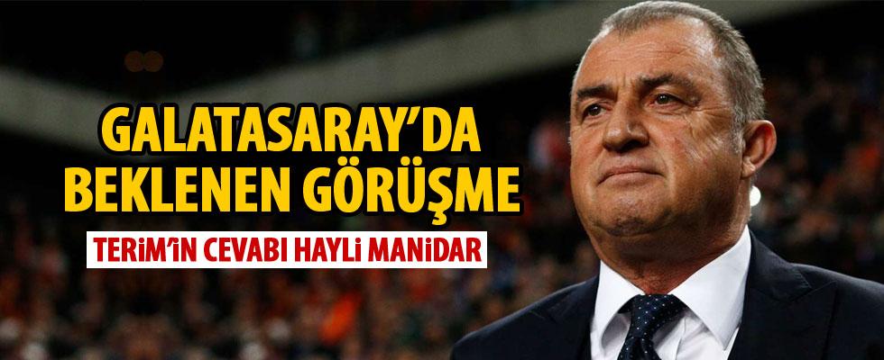 Galatasaray'da Terim görüşmesi