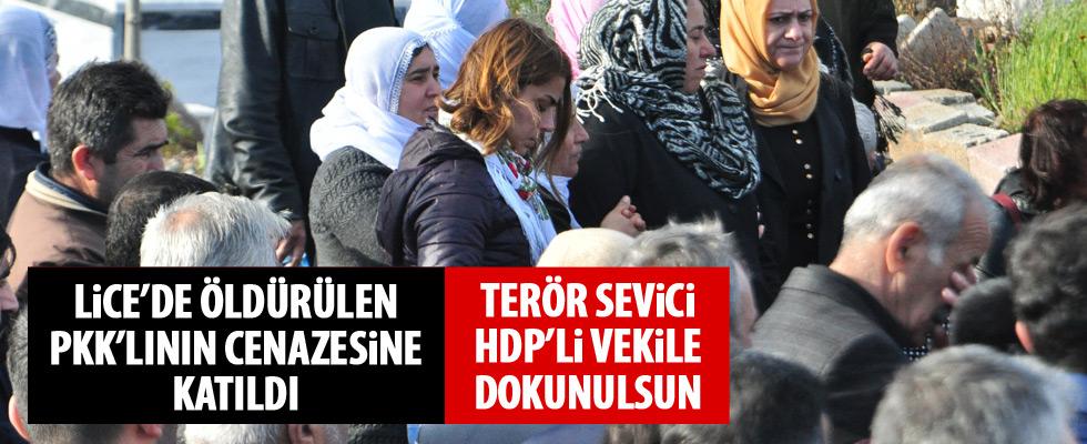 HDP'li Ayşe Acar Başaran, PKK'lı teröristin cenazesine katıldı