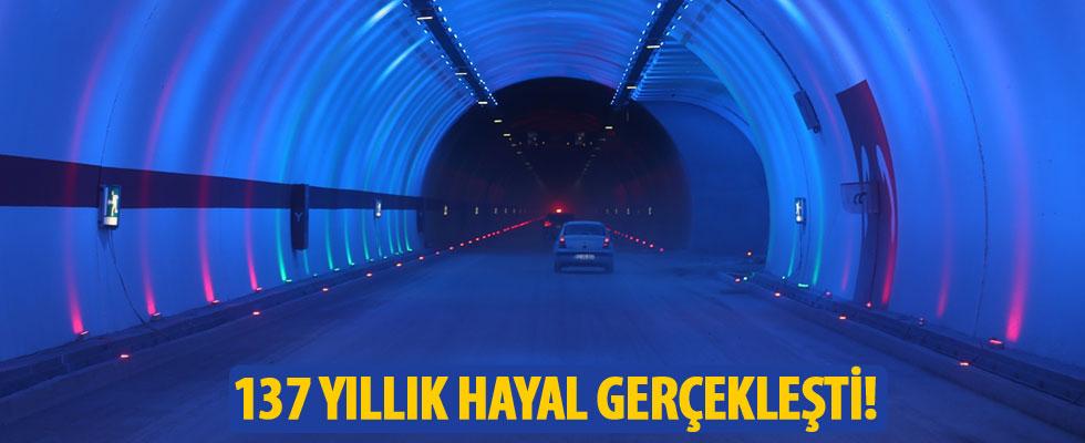 Ovit tüneli kontrollü olarak ulaşıma açıldı