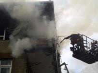 GÜMÜŞÇÜ - Kadıköy'de Apartman Yangını Paniğe Neden Oldu