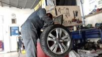 YOĞUN MESAİ - Sürücülere 'Kış Lastiği' Uyarısı