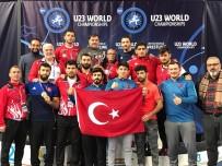 FATİH CENGİZ - Şampiyon Güreşçiler Yurda Döndü
