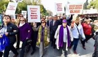 AZIZ KOCAOĞLU - İzmirli Kadınlar 'Şiddete Hayır' Dedi
