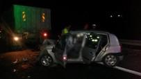 ŞANLIURFA - Kamyona Arkadan Çarpan Otomobildeki 2 Kişi Öldü