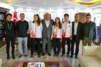 FATIH ÖZTÜRK - Balkan Şampiyonası'ndan Madalya İle Dönen Sporcular Salman'ı Ziyaret Etti