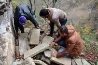 GÜMÜŞDERE - Define avcıları lahit mezarı ortaya çıkardı