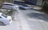 LALA MUSTAFA PAŞA - Ehliyetsiz Sürücü Drift Yapmak İsterken Kaza Yaptı