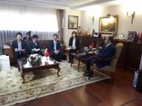 PORSELEN TABAK - Bakan Eroğlu, Japonya Büyükelçisi Miyajima'yı Kabul Etti