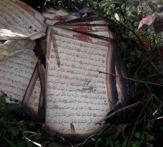 Yangında her şey yandı Kur'an-I Kerim yanmadı