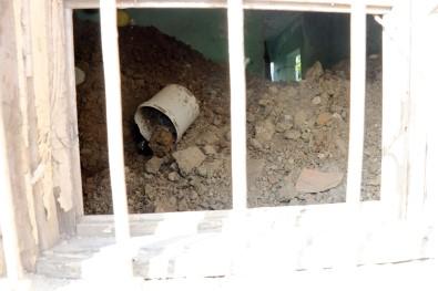 Gizemli kazının yapıldığı evin içi görüntülendi
