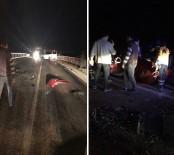 ABDURRAHMAN YILMAZ - Minibüs İle Otomobil Çarpıştı Açıklaması 1 Ölü, 8 Yaralı