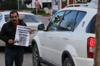 CAM KEMİK HASTASI - Epilepsi Hastası Adam, Trafik Lambalarında Yardım Topluyor