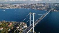 BOĞAZIÇI KÖPRÜSÜ - Köprünün 165 metresinde nefes kesen çalışma havadan görüntülendi