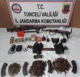 HARABE - Tunceli'de Harabe Evden Cephanelik Çıktı
