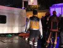 POLİS ARACI - Bostancı'da midibüs devrildi: 2 ölü 9 yaralı